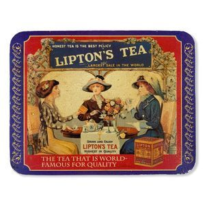 Vintage Lipton's Tea Reproduction Ad Wall Hanging